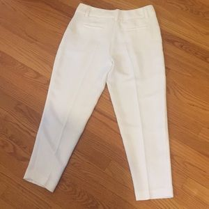 Alice + Olivia Pants - Alice & Olivia Pleated White Pants